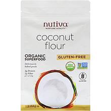 """Кокосовая мука Nutiva """"Coconut Flour"""" безглютеновая (454 г)"""