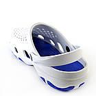 Мужские кроксы, размеры 44, 45 Шлепанцы для медиков сабо белые с синим., фото 3