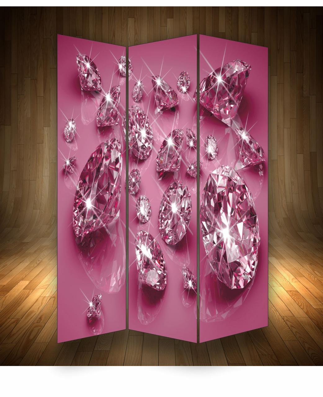 """Ширма декоративна"""" Діаманти рожеві"""""""