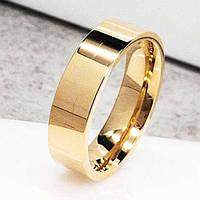 Обручальное кольцо из медицинской стали Американка 6 мм под золото 101838