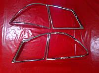 Хром накладки на стопы Honda Civic 8, Хонда Цивик 8 седан 2006+