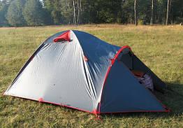 Палатка 2-х местная двухслойная туристическая непромокаемая с тамбуром Tramp Mountain 2 м, TRT-022.