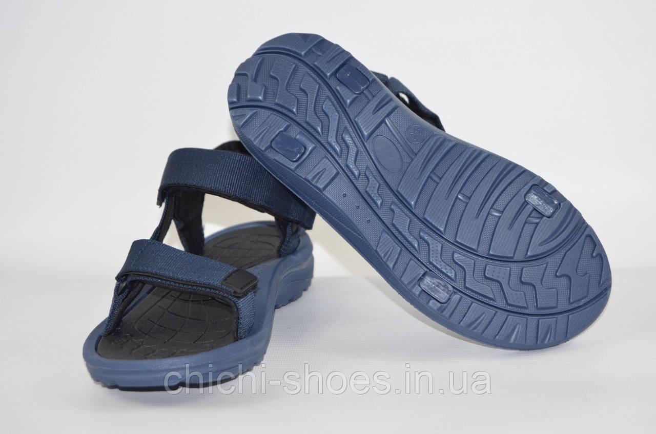 Мужские сандали Restime 19222-1 синие текстиль