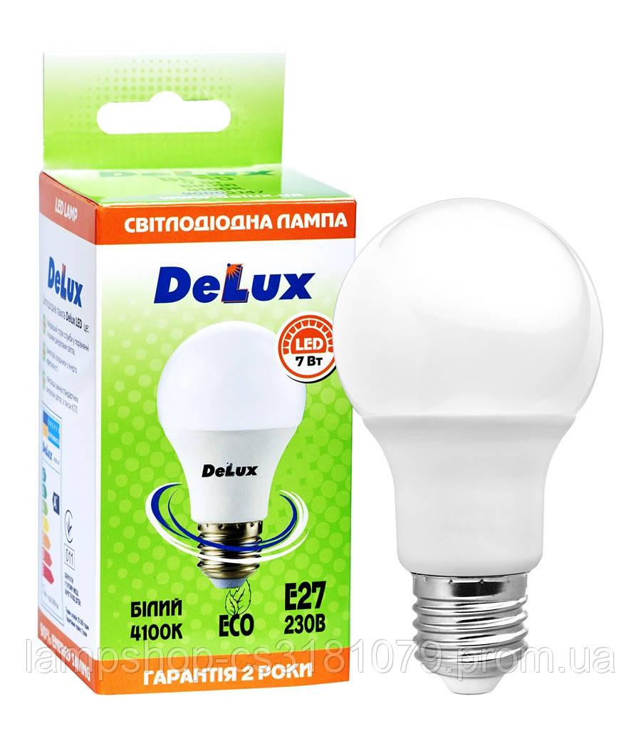 Лампа светодиодная DELUX BL60 7Вт 4100K Е27 белый