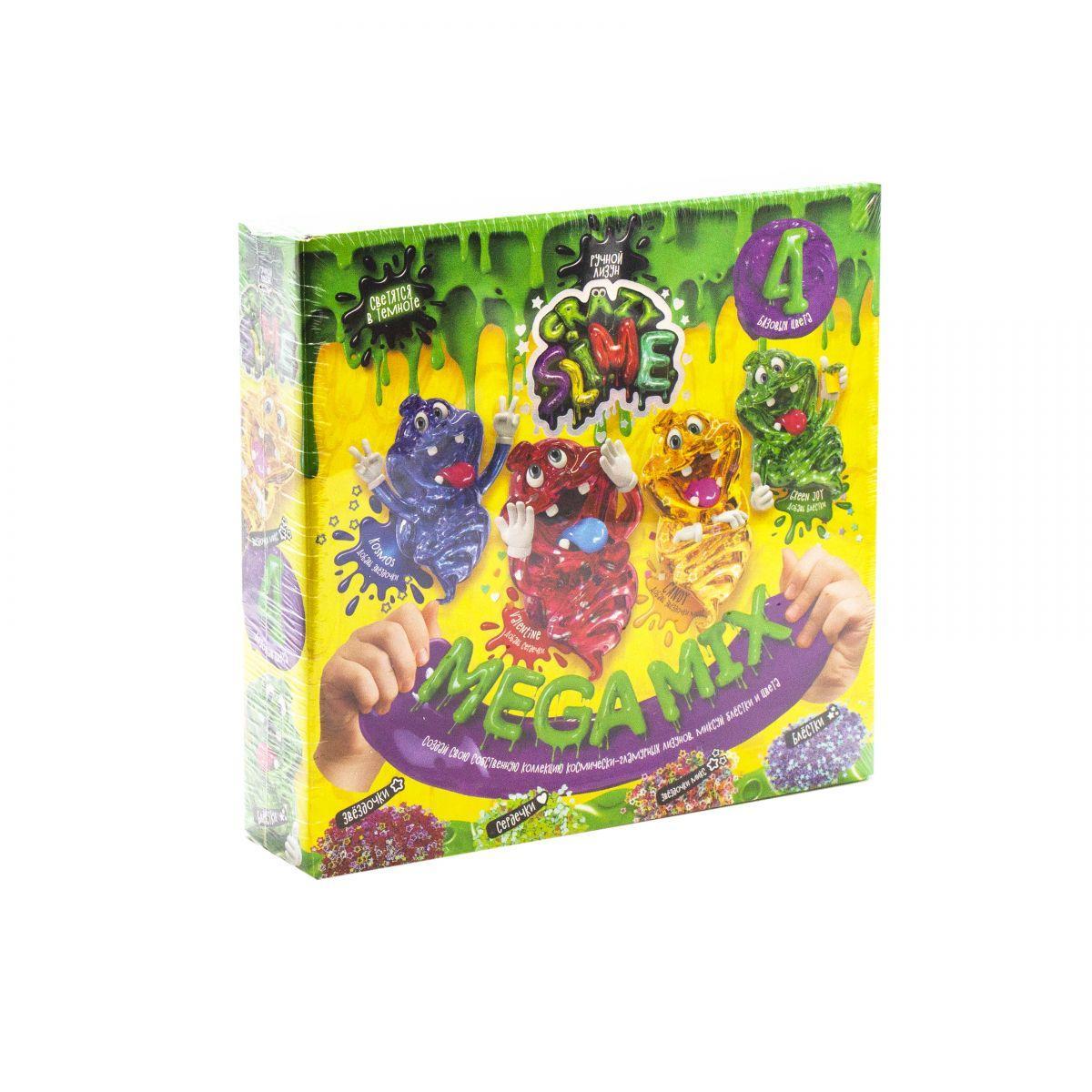 Набор для опытов  Crazy Slime - Лизун своими руками , 4 цвета (рус)