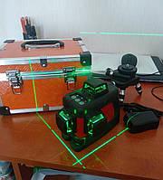 Лазерный нивелир 3Д - 12 линий, АКБ+ПОДСТАВКА С РЕГУЛИРОВКОЙ +КЕЙС