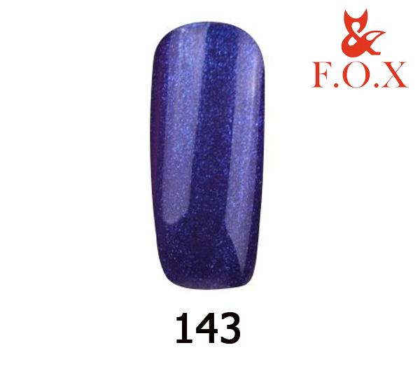 Гель-лак FOX Pigment № 143 (сине-фиолетовый с блестками), 6 мл