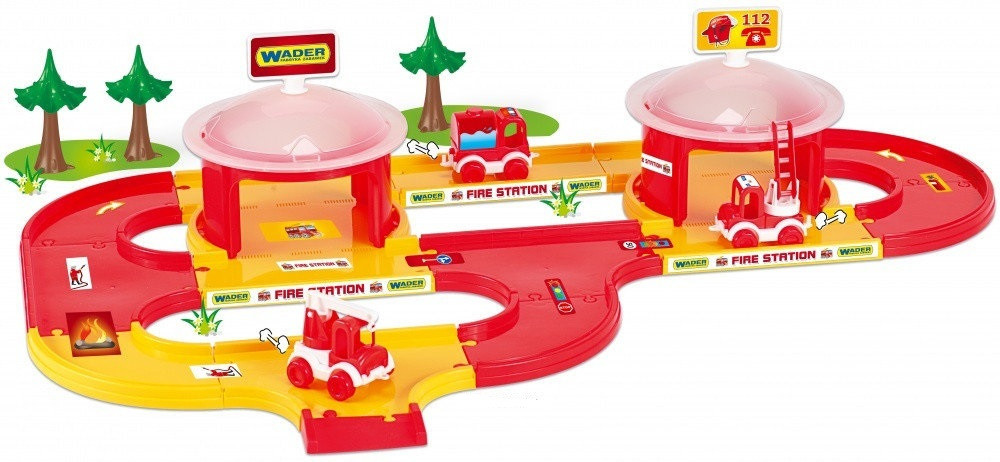 Детский игровой набор Пожарная станция Kid Cars 3D Wader 3,1 м