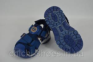 Сандалии детские текстиль синие Djong golf 2864-17