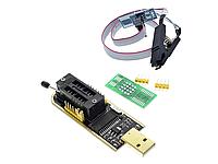Программатор EEPROM 24xx и 25xx CH341A + SOIC8 SOP8 прищепка адаптер