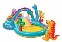 Детский надувной центр «Планета динозавров» Intex 57135 (333*229*112 см)