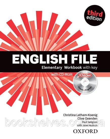 English File 3rd Edition Elementary WorkBook + key + iChecker CD-ROM