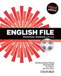 English File 3rd Edition Elementary WorkBook + key + iChecker CD-ROM