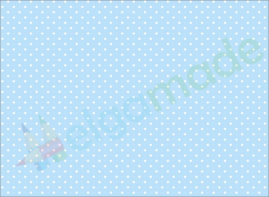 Фетр з принтом ГОРОШОК НА СВІТЛО-БЛАКИТНОМУ, 22x30 см, корейська жорсткий 1.2 мм