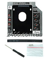 """Адаптер DM 12.7 мм для подключения дополнительного HDD/SSD 2.5"""" диска в отсек CD привода ноутбука (DW127S)"""