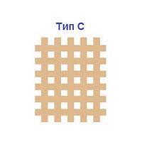 Кросс тейп спиральный, бежевый для локального использования, 5*4,5 см (большой) в уп. 40 шт. , фото 1