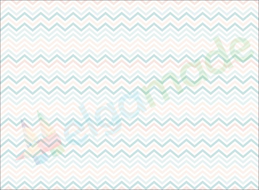 Фетр с принтом ЗИГ-ЗАГ МЯТНО-ПЕРСИКОВЫЙ, 22x30 см, корейский жесткий 1.2 мм