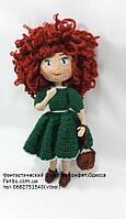 """Вязаная кукла,подарок ручной работы """"Кукла с вьющимися волосами""""29-30см"""