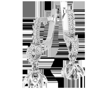 Серьги серебряные Цветок 41323