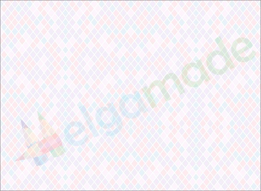 Фетр з принтом РОМБИКИ ПАСТЕЛЬНІ, 22x30 см, корейська жорсткий 1.2 мм