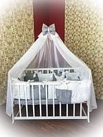 Детское постельное белье в кроватку ТМ Bonna Elite Серое в звездочку