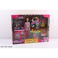 """Кукла типа Барби  """"Кондитер"""" в наборе кондит.прилавок,мебель,продукты  2 вида JX200-22/23"""