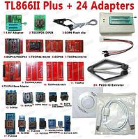 Программатор MiniPro TL866II plus + 24 адаптера