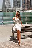 Короткое летнее платье на запах белое, фото 2