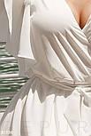 Короткое летнее платье на запах белое, фото 3