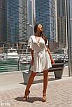 Короткое летнее платье на запах белое, фото 4