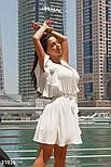 Короткое летнее платье на запах белое, фото 5
