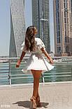 Короткое летнее платье на запах белое, фото 6