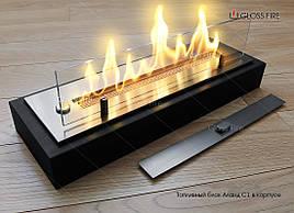 Топливный блок  Алаид Style 300-K С1 в корпусе. Биокамин для квартиры. Живое пламя