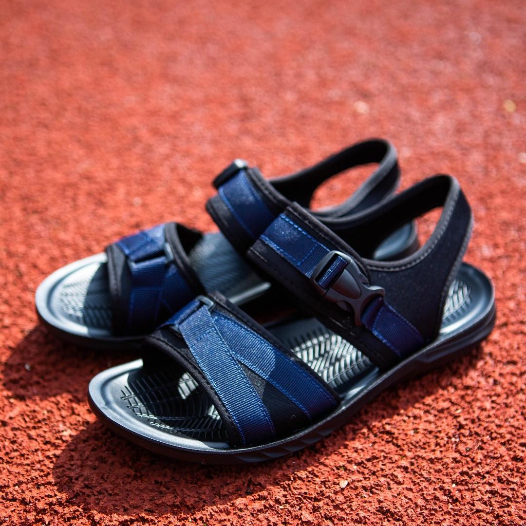 Сандалии мужские повседневные легкие удобные практичные синие на каждый день