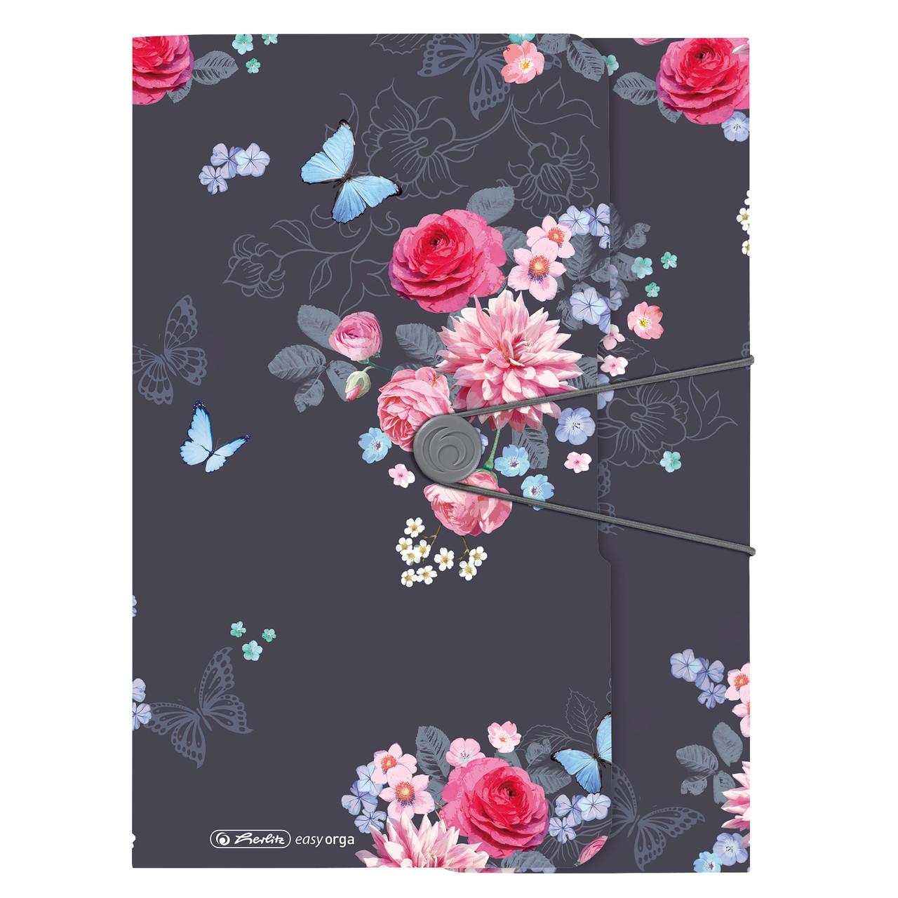 Папка на резинке Herlitz А4 Ladylike Flowers
