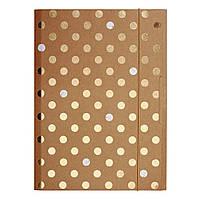 Папка на резинке картонная Herlitz А4 Pure Glam золотистая