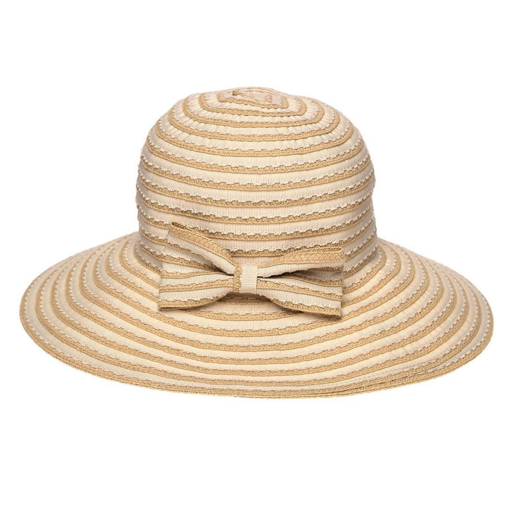 Широкополая шляпа женская Vi  Je 57,5 см бежевая  ( AVKJX-128-02 )