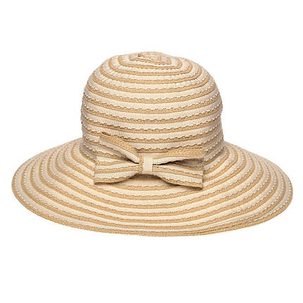 Широкополая шляпа женская Vi  Je 57,5 см бежевая  ( AVKJX-128-02 ), фото 2