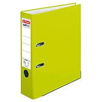 Папка-регистратор Herlitz А4 8см Protect Neon Green лимонная, фото 1