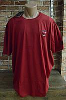 5003-Мужская Футболка Супер Батал -Красный, фото 1