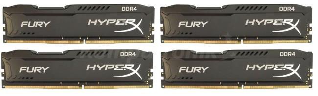 HyperX Fury Black 32GB 4x8GB 2666MHz DDR4 CL16 1Rx8 DIMM (HX426C16FB2K4/32)