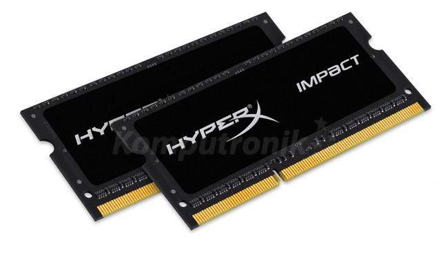 HyperX Impact 8GB 2x4GB 1600MHz DDR3L CL9 1.35V SODIMM (HX316LS9IBK2/8)