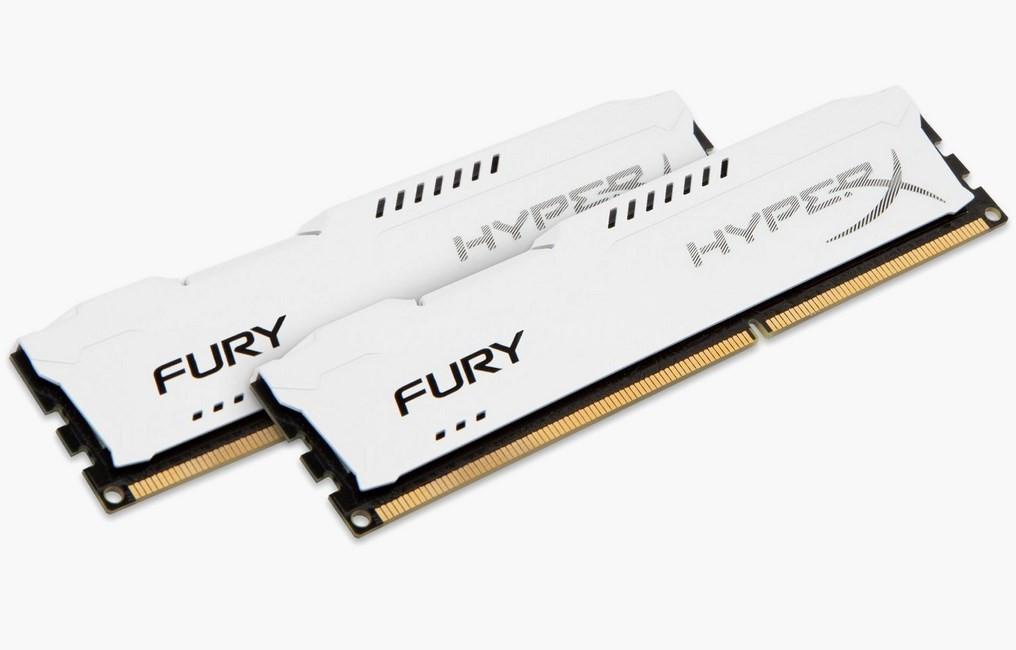 HyperX Fury White 8GB 2x4GB 1600MHz DDR3 CL10 DIMM (HX316C10FWK2/8)