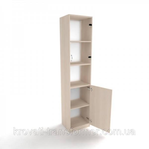 Шкаф пенал офисный ШОД-6 со стеклом