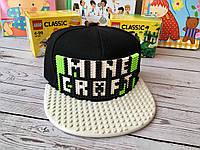 Детская бейсболка-конструктор для LEGO с надписью MINECRAFT