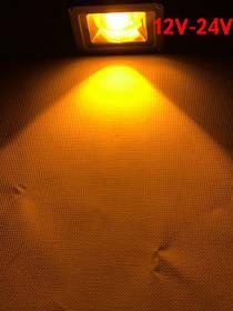 Светодиодный линзованый прожектор SL-IC10Lens 10W 12-24V DC желтый IP65 Код.59312
