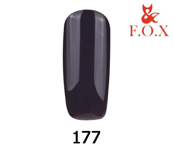 Гель-лак FOX Pigment № 177 (темно-баклажанный), 6 мл