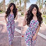 Женский комбинезон брюками в расцветках, фото 4