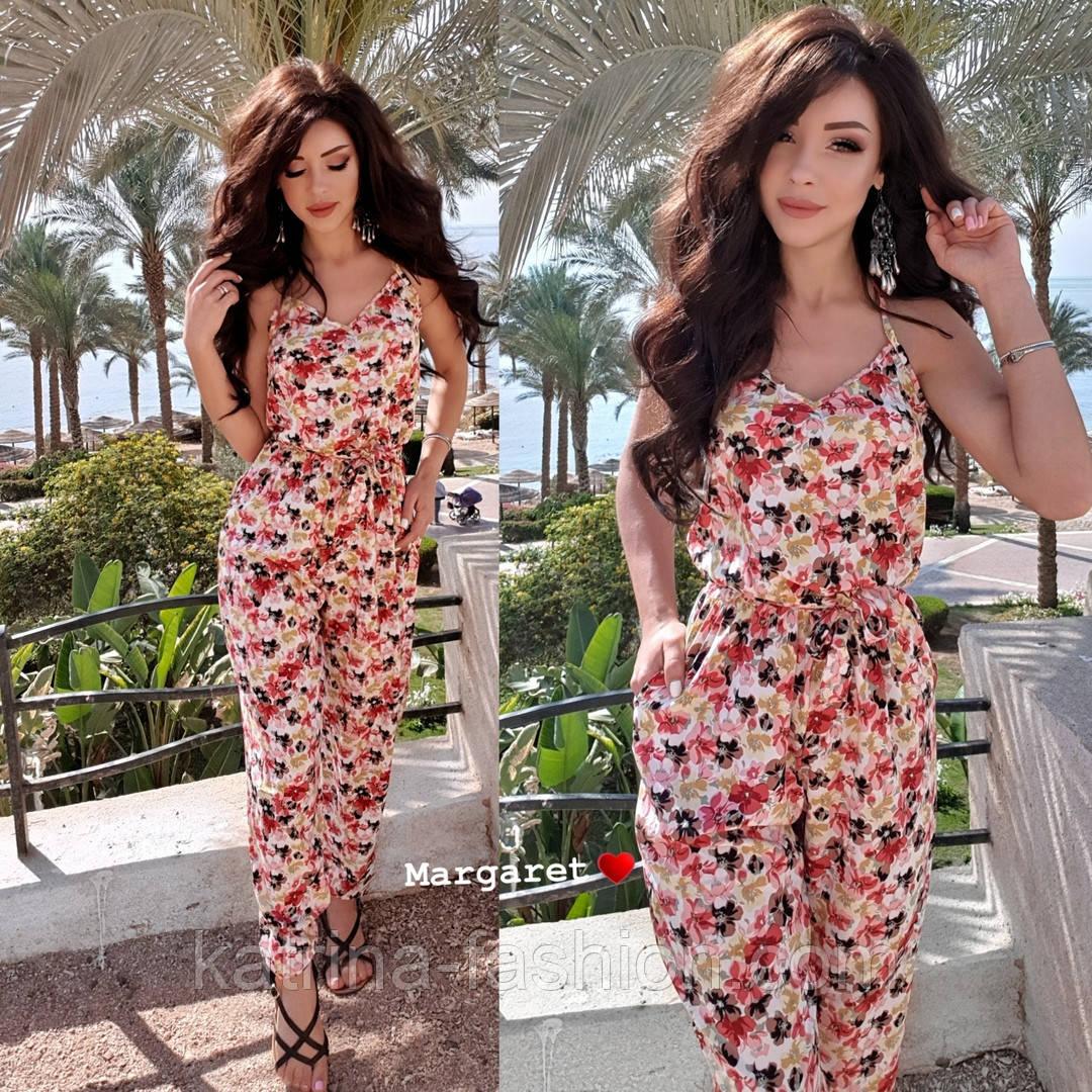 Женский комбинезон брюками в расцветках