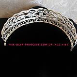 Диадема для невесты под серебро, высота 3,5 см., фото 2